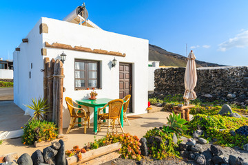Wall Mural - Beach house in El Golfo village, Lanzarote, Canary Islands, Spain