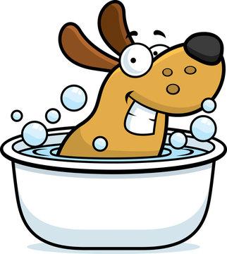 Cartoon Dog Bath