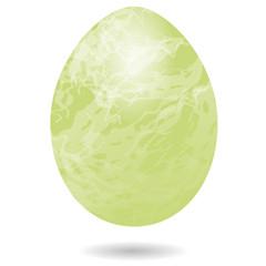 Grünes Ei marmoriert