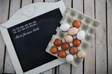 Jajka w wytłaczance