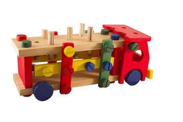 Child's designer, cargo vehicle on a white background