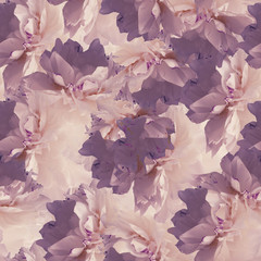 Seamless pattern of peonies.