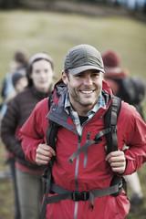 Portrait of hiker outdoors