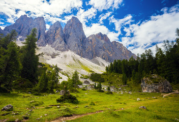 Amazing Dolomite Mountains