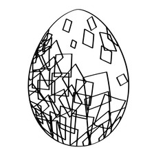 Isolated silhouette of an easter egg, Vector illustration