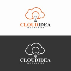 cloud idea logo in vector