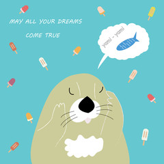 Dreaming vector  otter