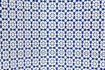Arabic ornament, background, texture. Blue tile
