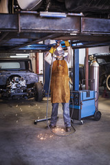 Mechanic welding chassis
