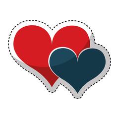 hearts love romantic card vector illustration design