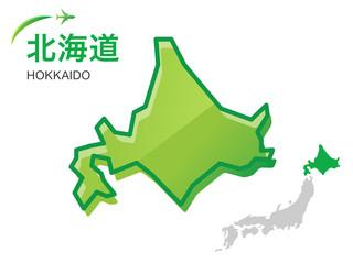 北海道の地図:イラスト素材