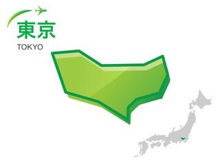 東京都の地図:イラスト素材