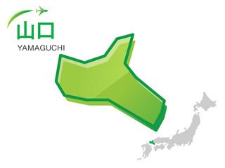 山口県の地図:イラスト素材