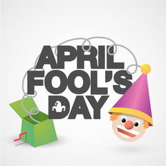 Happy April Fools' Day typographical background.