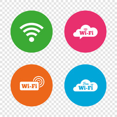 Wifi Wireless Network icons. Wi-fi speech bubble.