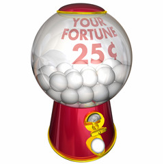Your Fortune Prediction Gum Ball Machine 3d Illustration