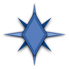 Blue Colored Star Shape Logo Concept Ideas