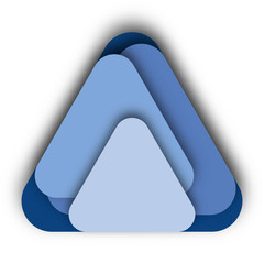 Different Blue Triangles Vector Icon