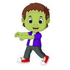 Halloween Frankenstein Mascot