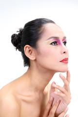 Asian Woman Fashion Makeup.