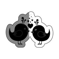 love card with cute bird