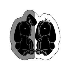 love card with Stuffed rabbit