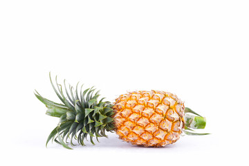 ripe  pineapple have  sweet taste  on white background healthy pineapple fruit food isolated