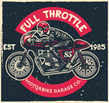 Vintage Cafe Racer Motorcycle Poster Stock Image And Royalty Free