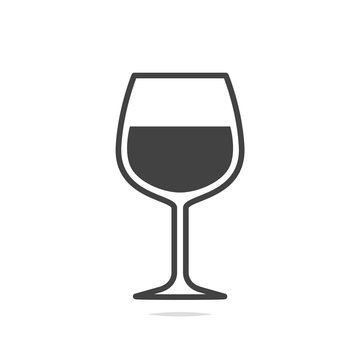 Wine glass icon vector isolated