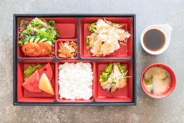 tempura shrimp bento set