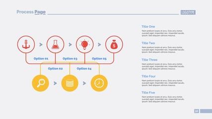 Five Options Workflow Slide Template