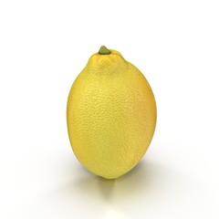 Fresh ripe lemon. Isolated on white. 3D illustration