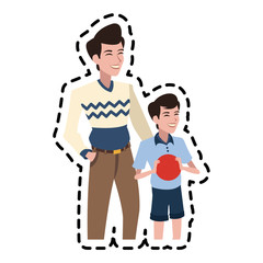 happy father son  family icon image vector illustration design