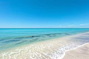 Casey Key,'s quartz sand pristine beach, south of Siesta Key