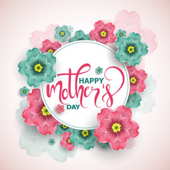 Colorful greeting card with  mother's day, vector illustration