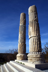 "The ruins of a temple dedicated to Apollo, ""Lord of Mice"" Smitheus, are located in a quiet village of Gulpinar on Biga Peninsula in Canakkale, Turkey."