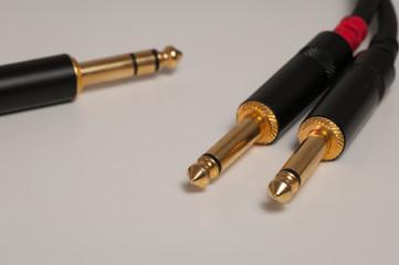 Audiokabel Klinke Mono-Stereo 6,3 mm