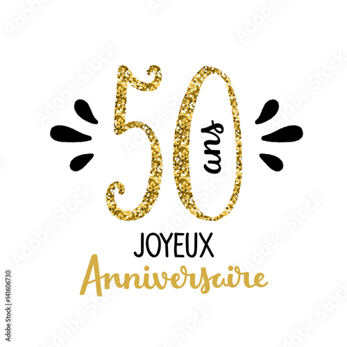 Carte joyeux anniversaire 50 ans stock image and royalty free vector files on - Clipart anniversaire 50 ans ...