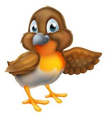 Cartoon Robin Bird Mascot