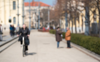 Blurred photo of a street