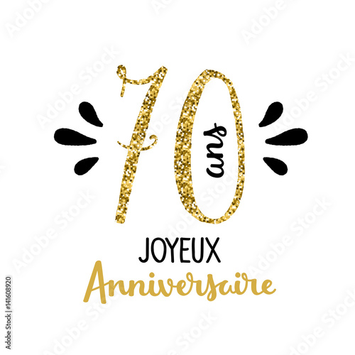 Carte joyeux anniversaire 70 ans stock image and royalty free vector files on - Clipart anniversaire 50 ans ...