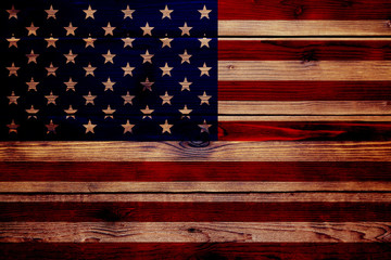 wood texture flag USA