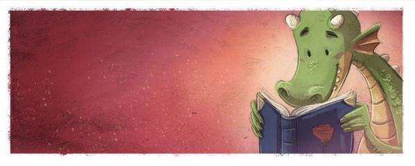 dragon leyendo un cuento