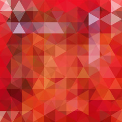Background of red, orange, brown geometric shapes. Abstract triangle geometrical background. Mosaic pattern. Vector EPS 10. Vector illustration