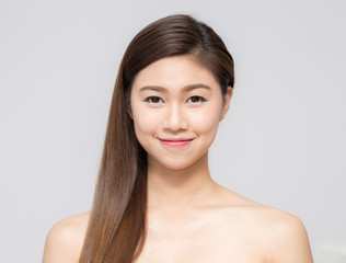 Asian beautiful women smile and happy