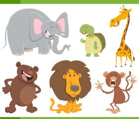 Poster Ranch cute animals cartoon set illustration