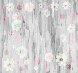 The scenic abstract floral background made with color filters, watercolor composition