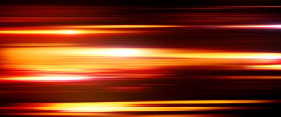 Digital light and stripes moving fast over dark background. 3d Illustration