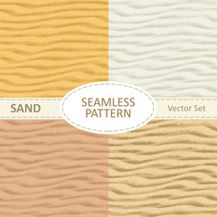 Set of vector seamless sand texture background.