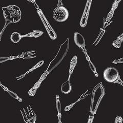 Vector illustration sketch - tableware. dinnerware